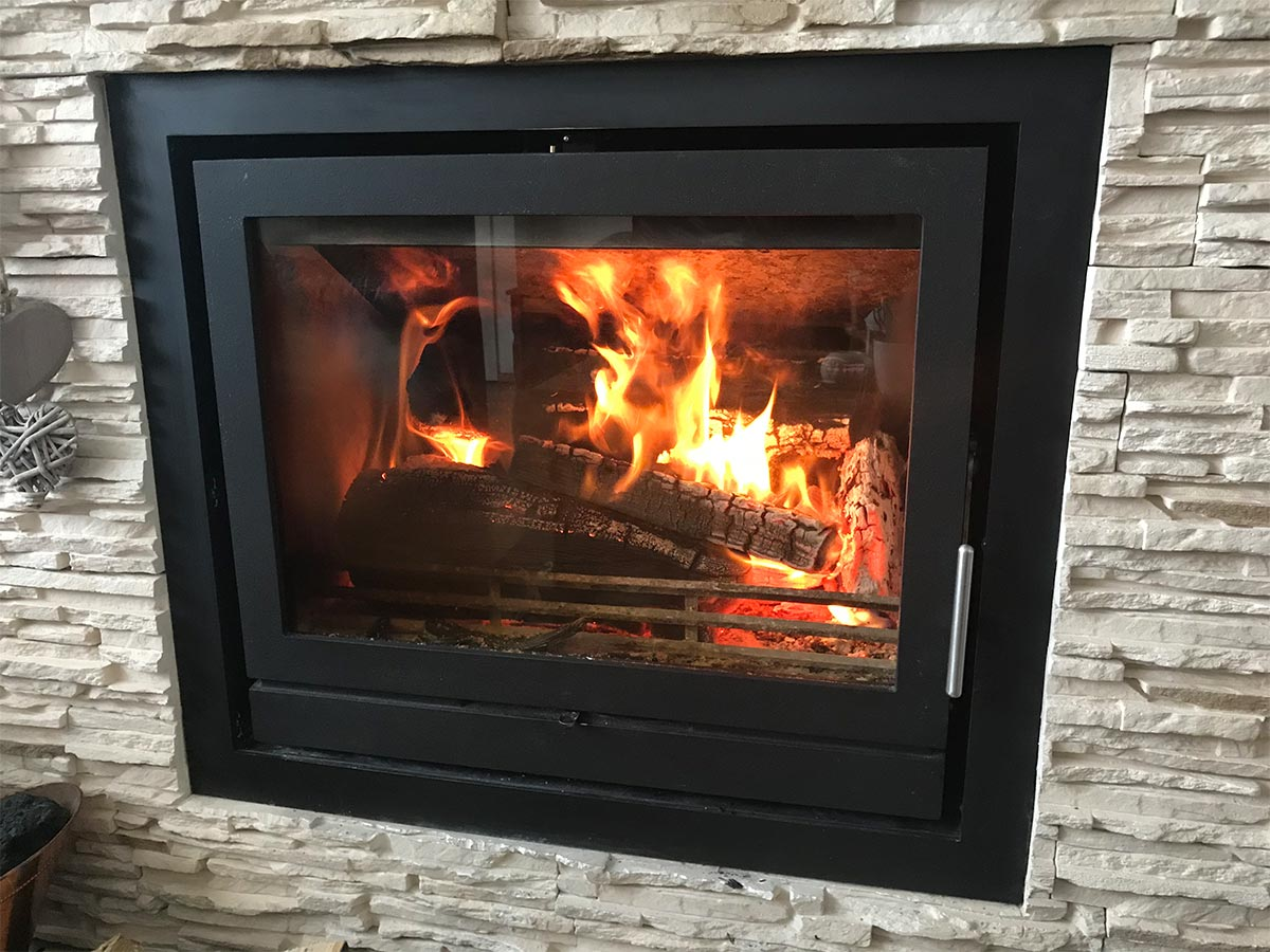 Fireline FPi8 Wood burning stove installation and chimney sweep MK SOLUTIONS