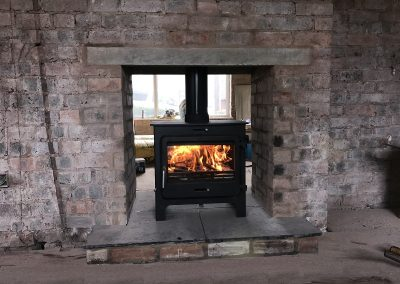 Ekol Clarity Double Sided Stove 12kw, fireplace-installation.co.uk, MK Solutions